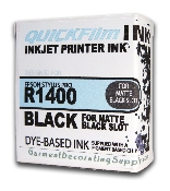 1400 / 18ml dye blk with Matte Blk UC Chip