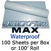 "Sample Pack QuickFilm MAX Waterproof 8 1/2"" x 11"" Sheets"